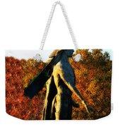 Native American And Eagle Weekender Tote Bag