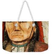 Native American Chief With Pipe Weekender Tote Bag