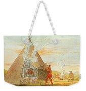 Native American Indian Sweat Lodge Weekender Tote Bag by Science Source