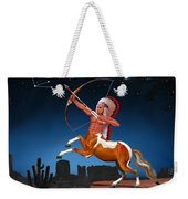 Native American Sagittarius Weekender Tote Bag