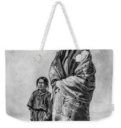Native American Squaw And Child Weekender Tote Bag