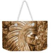 Native American Statue Copper  Weekender Tote Bag