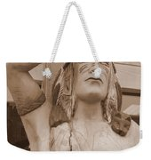 Native American Statue In Toppenish Weekender Tote Bag