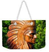 Native American Statue Weekender Tote Bag