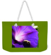 Native Bee On A Purple Flower Weekender Tote Bag