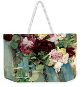 Natura Morta Con Rose Giovanni Boldini Weekender Tote Bag