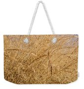 Natural Abstracts - Elaborate Shapes And Patterns In The Golden Grass Weekender Tote Bag