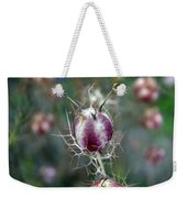 Natural Background With Purple Spiky Bulbs. Weekender Tote Bag
