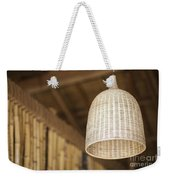 Natural Bamboo Interior Design Lampshade Detail Weekender Tote Bag
