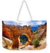 Natural Bridge Arch In Bryce Canyon National Park Weekender Tote Bag