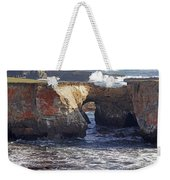 Natural Bridge At Point Arena Weekender Tote Bag