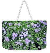 Natural Bush With Purple Small Flowers. Weekender Tote Bag