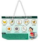 Natural Home Remedies For Diarrhea In Kids And Adults Weekender Tote Bag