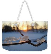 Natural Ice Animals In Winter Weekender Tote Bag