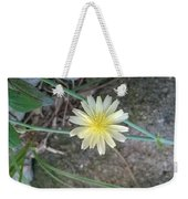 Natural... White And Yellow Flower Weekender Tote Bag
