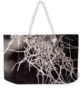 Nature Abstract  Black And White Weekender Tote Bag