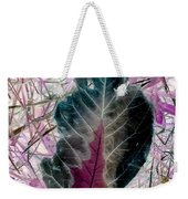Nature Abstract Of Leaf And Grass Weekender Tote Bag