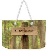 Nature Loop Sign Weekender Tote Bag