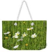 Nature Spring Scene White Wild Flowers Weekender Tote Bag