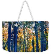 Nature Water Ripples Reflection On Water Weekender Tote Bag