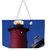 Nauset Lighthouse Night Weekender Tote Bag