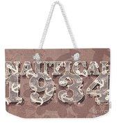 Nautical 1934 Weekender Tote Bag
