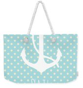 Nautical Anchor Weekender Tote Bag