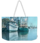 Nautical Aquas At The Harbor Weekender Tote Bag