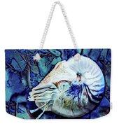 Nautilus Blue Weekender Tote Bag
