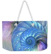 Nautilus Shells Blue And Purple Weekender Tote Bag by Gill Billington