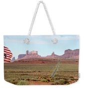 Navajo Flag At Monument Valley Weekender Tote Bag