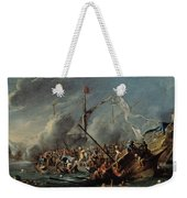 Naval Battle Between Spanish And Turks Weekender Tote Bag