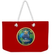 Naval Special Warfare Group Four - N S W G-4 - On Red Weekender Tote Bag