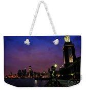 Navy Pier Sunset Weekender Tote Bag