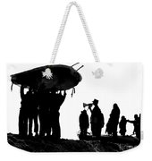 Navy Seals Hold An Inflatable Boat Weekender Tote Bag