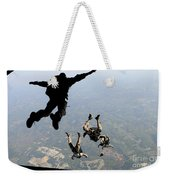 Navy Seals Jump From The Ramp Of A C-17 Weekender Tote Bag