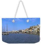 Naxos Greece Harbor Weekender Tote Bag