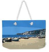 Nazara Beach 4 Weekender Tote Bag