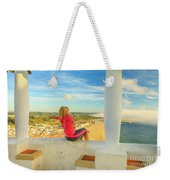 Nazare Viewpoint Woman Weekender Tote Bag