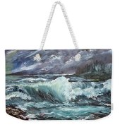 New England Coastline Weekender Tote Bag