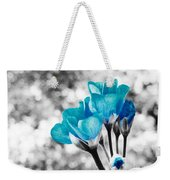 Near Bloom Blue Weekender Tote Bag