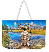 Near The Lake In The Mountain 4 Weekender Tote Bag