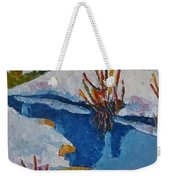 Near The Lake Weekender Tote Bag