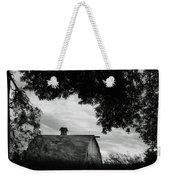 Nebraska - Barn - Black And White Weekender Tote Bag