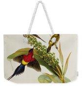 Nectarinia Gouldae Weekender Tote Bag by John Gould