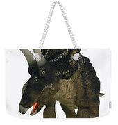 Nedoceratops On White Weekender Tote Bag