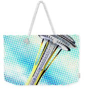 Needle In Newsprint Weekender Tote Bag