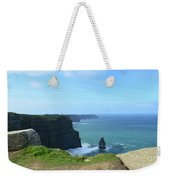 Needle Rock Formation With Blue Skies On The Cliff's Of Moher Weekender Tote Bag