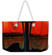 Needle Silhouette 2 Weekender Tote Bag