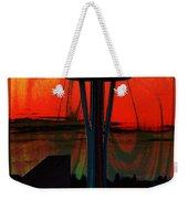 Needle Silhouette 3 Weekender Tote Bag